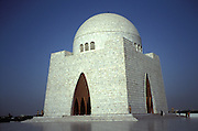 The Mazar-e-Quaid Mosque, Karachi, Pakistan, Asia