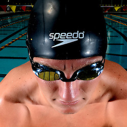 Swimmer of the year, La Canada's Dane Bell at Pasadena City College in Pasadena, Calif., on Thursday, June 11, 2015.<br /> (Photo by Keith Birmingham/ Pasadena Star-News)