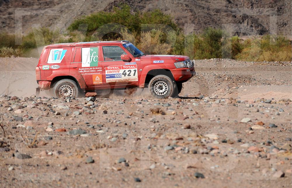 090105  Dakar rally Argentina - Chili..Dakar rally 2009..Fiambala  - La Rioja..Nr. 421 MARZOTTO Matteo (ITA)..             ALBIERO Giorgio (ITA)..fotografie frank uijlenbroek©2008frank uijlenbroek....