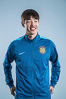 Portrait of South Korean soccer player Hong Jeong-ho of Jiangsu Suning F.C. for the 2017 Chinese Football Association Super League, in Nanjing city, east China's Jiangsu province, 27 February 2017.