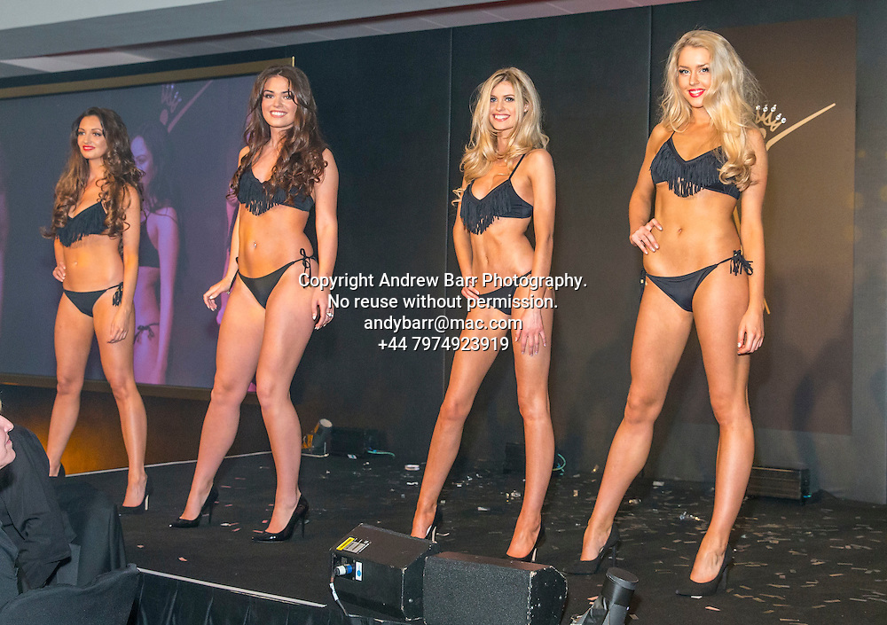27-08-2015<br /> Miss Scotland 2015 final at Raddison Blu, Glasgow.<br /> <br /> Bikini round - l-r Amye, Julie, Rosie and Romy<br /> <br /> Pic:Andy Barr<br /> <br /> www.andybarr.com<br /> <br /> Copyright Andrew Barr Photography.<br /> No reuse without permission.<br /> andybarr@mac.com<br /> +44 7974923919