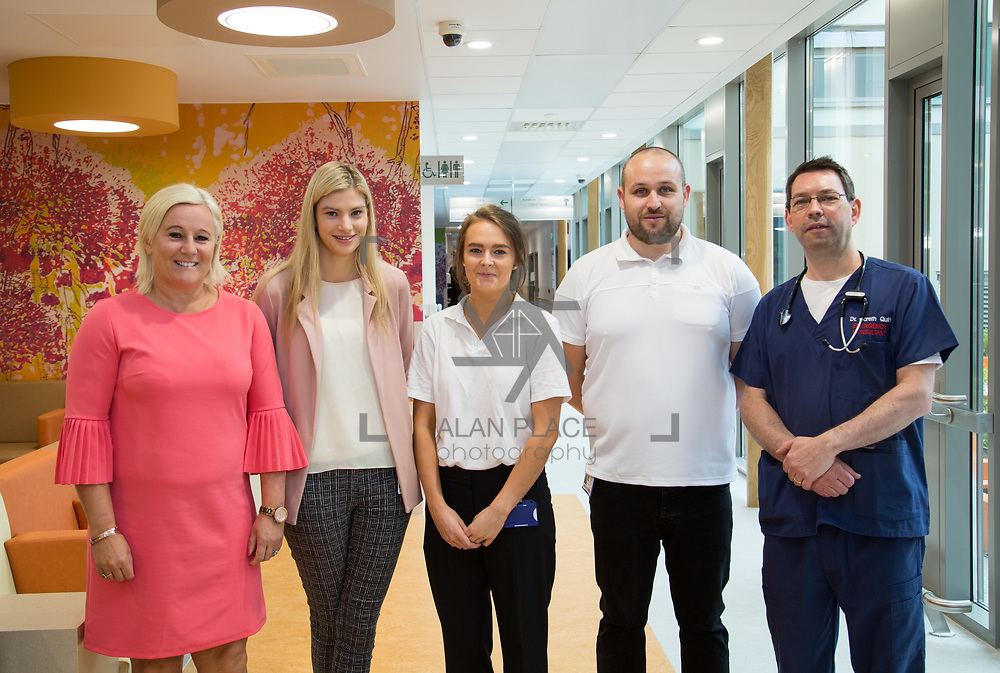 29.05. 2017.                                             <br /> IRELAND&rsquo;S largest and most advanced Emergency Department has opened this Monday at University Hospital Limerick.<br /> <br /> Pictured at the new Emergency Department were, UHL CEO Colette Cowan, Sarah Mann, Julianne Daly, Derek Hogan and Dr. Gareth Quin.<br /> <br /> <br /> A &euro;24 million project (development and equipment costs), the ED spans 3,850 square metres of floor space, over three times the size of the old department. In 2016, UHL had the busiest ED in the country, with over 64,000 attendances. Picture: Alan Place