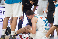 Real Madrid Ognjen Kuzmic injured during Turkish Airlines Euroleague match between Real Madrid and CSKA Moscu at Wizink Center in Madrid, Spain. October 19, 2017. (ALTERPHOTOS/Borja B.Hojas)