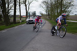 Alice Barnes (GBR) of Team GB tackles a sharp corner during Stage 2 of the Healthy Ageing Tour - a 19.6 km team time trial, starting and finishing in Baflo on April 6, 2017, in Groeningen, Netherlands.