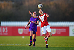 Rosella Ayane of Bristol City heads the ball - Mandatory by-line: Paul Knight/JMP - 17/11/2018 - FOOTBALL - Stoke Gifford Stadium - Bristol, England - Bristol City Women v Liverpool Women - FA Women's Super League 1