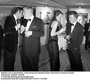 William Cash, Conrad Black,  Louisa King and  Mathew Doull. Duckworth Centenary Dinner. Dorchester, London 14/10/98<br />