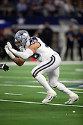 Dallas Cowboys defensive tackle Tyrone Crawford (98) rushes during the NFL week 13 regular season football game against the New Orleans Saints on Thursday, Nov. 29, 2018 in Arlington, Tex. The Cowboys won the game 13-10. (©Paul Anthony Spinelli)