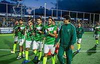 AMSTELVEEN - Teleurstelling bij Pakistan , Muhammad Rizwan (Pak),   na de tweede  Olympische kwalificatiewedstrijd hockey mannen ,  Nederland-Pakistan (6-1). Oranje plaatst zich voor de Olympische Spelen 2020. COPYRIGHT  KOEN SUYK