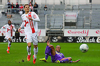 Nicolas VERDIER / Cedric KANTE  - 20.12.2014 - Brest / Ajaccio - 18eme journee de Ligue 2 -<br /> Photo : Vincent Michel / Icon Sport