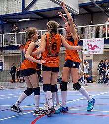 18-02-2017 NED:  Halve Finale NJOK, Houten<br /> In sporthal de kruisboog worden de wedstrijden gespeeld door CMV meisjes en jongens / Orion