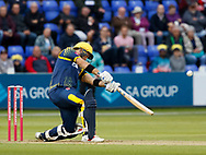 Glamorgan's Colin Ingram hits a boundary<br /> <br /> Photographer Simon King/Replay Images<br /> <br /> Vitality Blast T20 - Round 14 - Glamorgan v Surrey - Friday 17th August 2018 - Sophia Gardens - Cardiff<br /> <br /> World Copyright &copy; Replay Images . All rights reserved. info@replayimages.co.uk - http://replayimages.co.uk