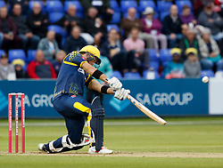 Glamorgan's Colin Ingram hits a boundary<br /> <br /> Photographer Simon King/Replay Images<br /> <br /> Vitality Blast T20 - Round 14 - Glamorgan v Surrey - Friday 17th August 2018 - Sophia Gardens - Cardiff<br /> <br /> World Copyright © Replay Images . All rights reserved. info@replayimages.co.uk - http://replayimages.co.uk