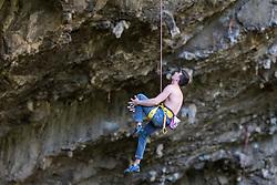 Portrait of Jernej Kruder, sports climber, on April 25, 2018 in OSP, Slovenia. Photo by Urban Urbanc / Sportida