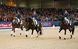 Gal Edward, (NED), Glock's Voice, Minderhoud Hans Peter, (NED), Dream Boy, Van der Meer Patrick, (NED), Zippo<br /> Beste Ruiters van Europa<br /> KWPN Hengstenkeuring - 's Hertogenbosch 2016<br /> © Hippo Foto - Dirk Caremans<br /> 05/02/16