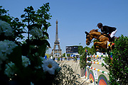 Paris, France : Kevin Staut riding Ayade de Septon et Hdc during the Longines Paris Eiffel Jumping 2018, on July 5th to 7th, 2018 at the Champ de Mars in Paris, France - Photo Christophe Bricot / ProSportsImages / DPPI