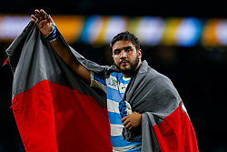 Argentina replacement Lucas Noguera Paz looks dejected after Australia win the match 15-29 - Mandatory byline: Rogan Thomson/JMP - 07966 386802 - 25/10/2015 - RUGBY UNION - Twickenham Stadium - London, England - Argentina v Australia - Rugby World Cup 2015 Semi Finals.