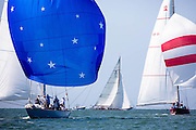 American Eagle and Columbia sailing at the Nantucker 12 Metre Regatta.