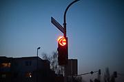 Highway traffic light.