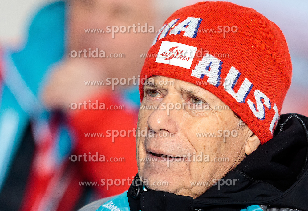 18.12.2016, Nordische Arena, Ramsau, AUT, FIS Weltcup Nordische Kombination, Langlauf, im Bild ÖSV Präsident Prof. Peter Schröcksnadel // Austrian Ski Association President Prof. Peter Schröcksnadel during Cross Country Competition of FIS Nordic Combined World Cup, at the Nordic Arena in Ramsau, Austria on 2016/12/18. EXPA Pictures © 2016, PhotoCredit: EXPA/ JFK