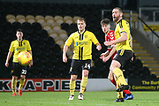 Hayden Hackney of Middlesbrough (62) scores a goal with a header during the EFL Trophy group stage match between Burton Albion and U21 Middlesbrough at the Pirelli Stadium, Burton upon Trent, England on 7 November 2018.