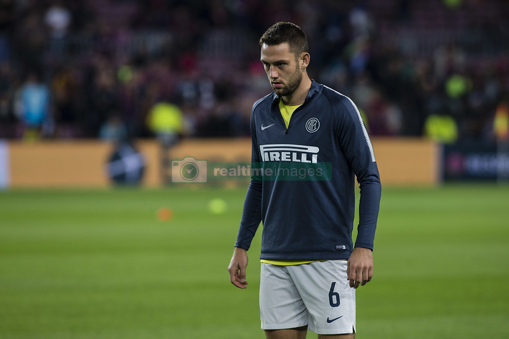 October 24, 2018 - Barcelona, Spain - 06 De Vrij from Nederland of FC Internazionale Milano during the UEFA Champions League match between FC Barcelona v FC Internazionale Milano at Camp Nou Stadium, in Barcelona on 24 of October, 2018. (Credit Image: © Xavier Bonilla/NurPhoto via ZUMA Press)