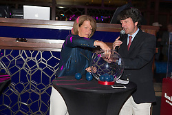 Beezie Madden, (USA) performing the draw in the Hakkasan Club at the MGM Hotel<br /> Longines FEI World Cup™ Jumping<br /> Final<br /> Las Vegas 2015<br />  © Hippo Foto - Dirk Caremans<br /> 16/04/15