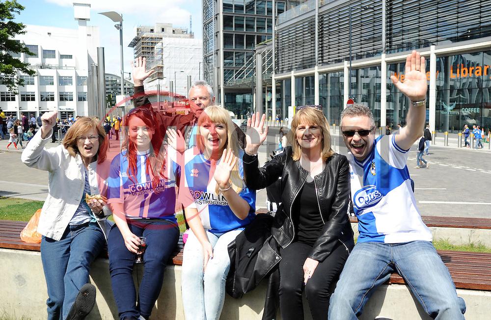 Fans - Photo mandatory by-line: Neil Brookman/JMP - Mobile: 07966 386802 - 17/05/2015 - SPORT - football - London - Wembley Stadium - Bristol Rovers v Grimsby Town - Vanarama Conference Football