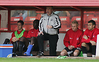 Photo: Paul Thomas.<br /> Walsall v Swansea. Coca Cola League 1.<br /> 27/08/2005.<br /> <br /> Cardiff manager, Kenny Jackett yells instructions from his dug out.