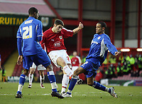 Photo: Rich Eaton.<br /> <br /> Bristol City v Millwall. Coca Cola League 1. 16/12/2006. Bradley Orr centre #2 of Bristol sees his shot saved by the goalkeeper