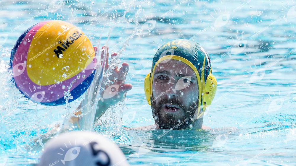 11 HOWDEN Rhys AUS<br /> Brazil BRA (white) - Australia AUS (green)<br /> day 04 - 26/06/2015<br /> FINA Water Polo World League Superfinal Men<br /> Bergamo (ITA) 23-28 June 2015<br /> Photo G.Scala/Deepbluemedia
