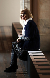Anna Wintour waits for the start of the Victoria Beckham  show at New York Fashion Week for Autumn/Winter 2013 , Sunday, 10th February 2013. Photo by: Stephen Lock / i-Images