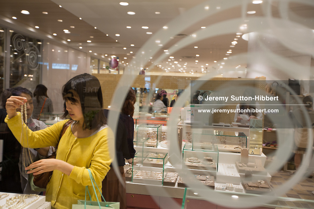 Shoppers in the new Hikarie shopping complex in Shibuya district, in Tokyo, Japan on Friday 11th May 2012.
