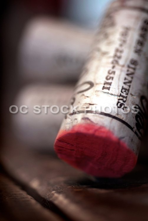 Wine Cork From A Bottle Of Red Merlot