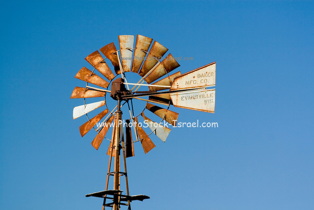 Kansas KS USA, wind powered water pump