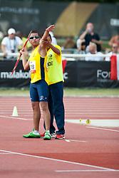 BELIZARIO ANGULO Jose, COL, Javelin, F11, 2013 IPC Athletics World Championships, Lyon, France
