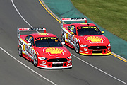 Scott McLaughlin and Fabian Coulthard (DJR Penske Shell Ford). Beaurepaires Supercars Melbourne 400, Virgin Australia Supercars Champiobship Round 2. 2019 Rolex Australian F1 Grand Prix, Albert Park Melbourne 14-16 March 2019. Photo Clay Cross / photosport.nz