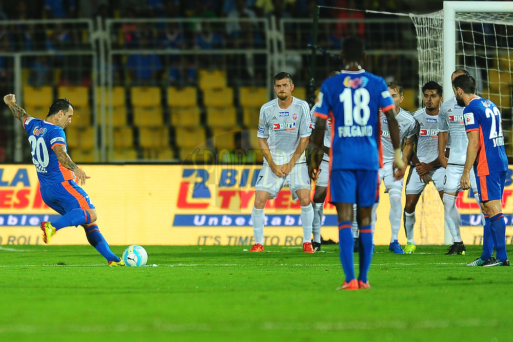 Rafael Coelho of FC Goa during match 8 of the Indian Super League (ISL) season 3 between FC Goa and FC Pune City held at the Fatorda Stadium in Goa, India on the 8th October 2016.<br /> <br /> Photo by Faheem Hussain / ISL/ SPORTZPICS