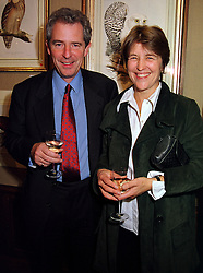 LORD & LADY WALDEGRAVE she is M/D of Leiths School of food & wine, at a reception in London on 27th October 1999.MYF 14