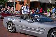 Aug 3, 2019; Canton, OH, USA; Charlie Joiner during the Pro Football Hall of Fame Grand Parade on Cleveland Ave. in Downtown Canton. (Robin Alam/Image of Sport)