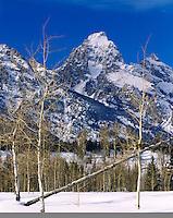 Winter in the Grand Teton Range, Grand Teton National Park Wyoming