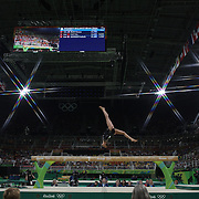 Gymnastics - Olympics: Day 10  Sanne Wevers of The Netherlands performing her routine that won the gold medal in the Women's Balance Beam Final during the Artistic Gymnastics competition at the Rio Olympic Arena on August 15, 2016 in Rio de Janeiro, Brazil. (Photo by Tim Clayton/Corbis via Getty Images)<br /> <br /> (Note to editors: A special effects starburst filter was used in the creation of this image)