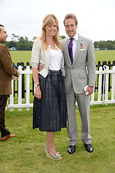 BEN FOGLE and his wife MARINA at the 2013 Cartier Queens Cup Polo at Guards Polo Club, Berkshire on 16th June 2013.