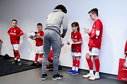 Match mascots meet the players in the mixed zone prior to kick off - Mandatory by-line: Ryan Hiscott/JMP - 22/02/2020 - FOOTBALL - Ashton Gate - Bristol, England - Bristol City v West Bromwich Albion - Sky Bet Championship