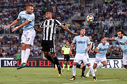 August 13, 2017 - Rome, Italy - Ciro Immobile of Lazio is challenged by Alex Sandro of Juventus during the Italian Supercup Final match between Juventus and Lazio at Stadio Olimpico, Rome, Italy on 13 August 2017. (Credit Image: © Giuseppe Maffia/NurPhoto via ZUMA Press)