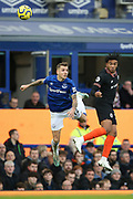 Everton defender Lucas Digne (12) and Chelsea defender Reece James (24) during the Premier League match between Everton and Chelsea at Goodison Park, Liverpool, England on 7 December 2019.