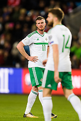 October 8, 2017 - Oslo, NORWAY - 171008  Chris Brunt of Northern Ireland  looks dejected after Norways 1-0 goal during the FIFA World Cup Qualifier match between Norway and Northern Ireland on October 8, 2017 in Oslo..Photo: Jon Olav Nesvold / BILDBYRÃ…N / kod JE / 160041 (Credit Image: © Jon Olav Nesvold/Bildbyran via ZUMA Wire)