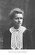Marie Sklodowska Curie (1867-1934) Polish-born French physicist. From a picture published 1910
