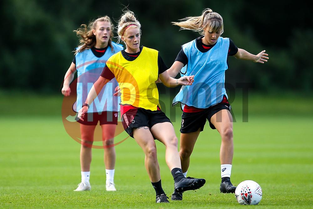 Jas Matthews and Gemma Evans of Bristol City Women during training at Failand - Mandatory by-line: Robbie Stephenson/JMP - 26/09/2019 - FOOTBALL - Failand Training Ground - Bristol, England - Bristol City Women Training