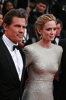 Actor Josh Brolin, Actress Emily Blunt, at the gala screening for the film Sicario at the 68th Cannes Film Festival, Tuesday May 19th 2015, Cannes, France.