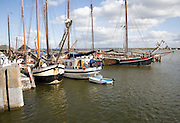 Boats in the outer harbour, Enkhuizen, Netherlands